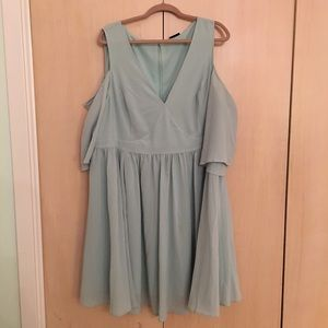 Torrid mint green cut out sleeve dress